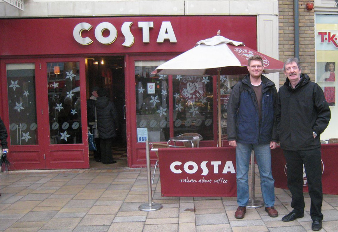 Costa Colchester Simon and Vic